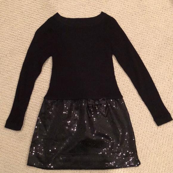 Other - Girls Black Sequin Skirt Dress